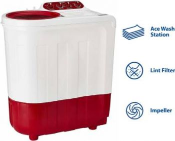 Whirlpool 7.2 kg Semi Automatic Top Load Red